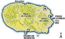 Map of Terceira